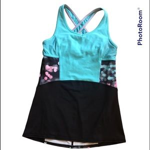 Ivivva Cross Back Shelf Bra Tank Girls Size 14 or Women's size 2/4